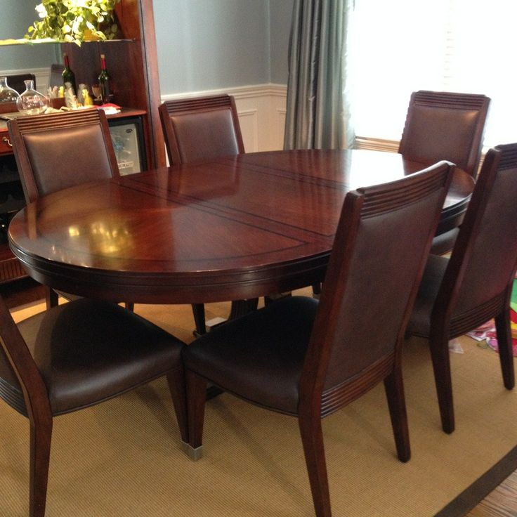 Dining Room Sets Leather Chairs Prepossessing Ralph Lauren Dining Room Set With 6 Leather Chairs  116 Emain Decorating Design