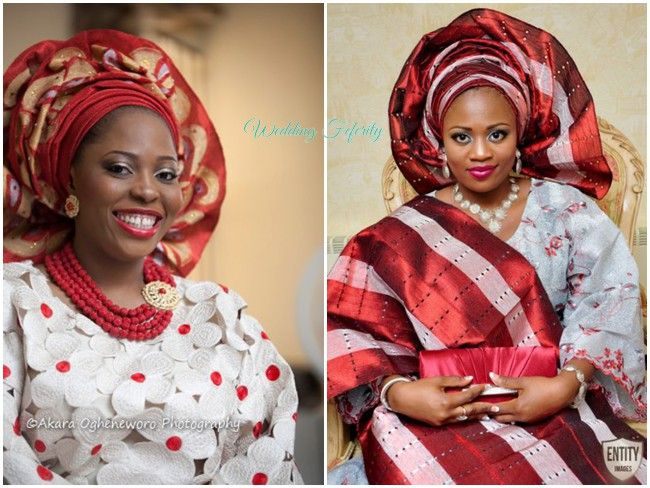 Aso Oke And Lace Attires For Yoruba Traditional Weddings
