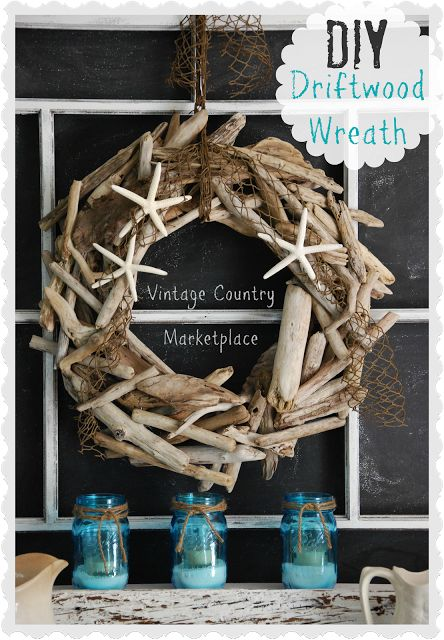 Vintage Country Style: Driftwood Wreath Tutorial