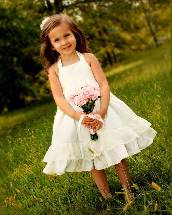 Girls Flower Girl Dress First Communion Dress Girls