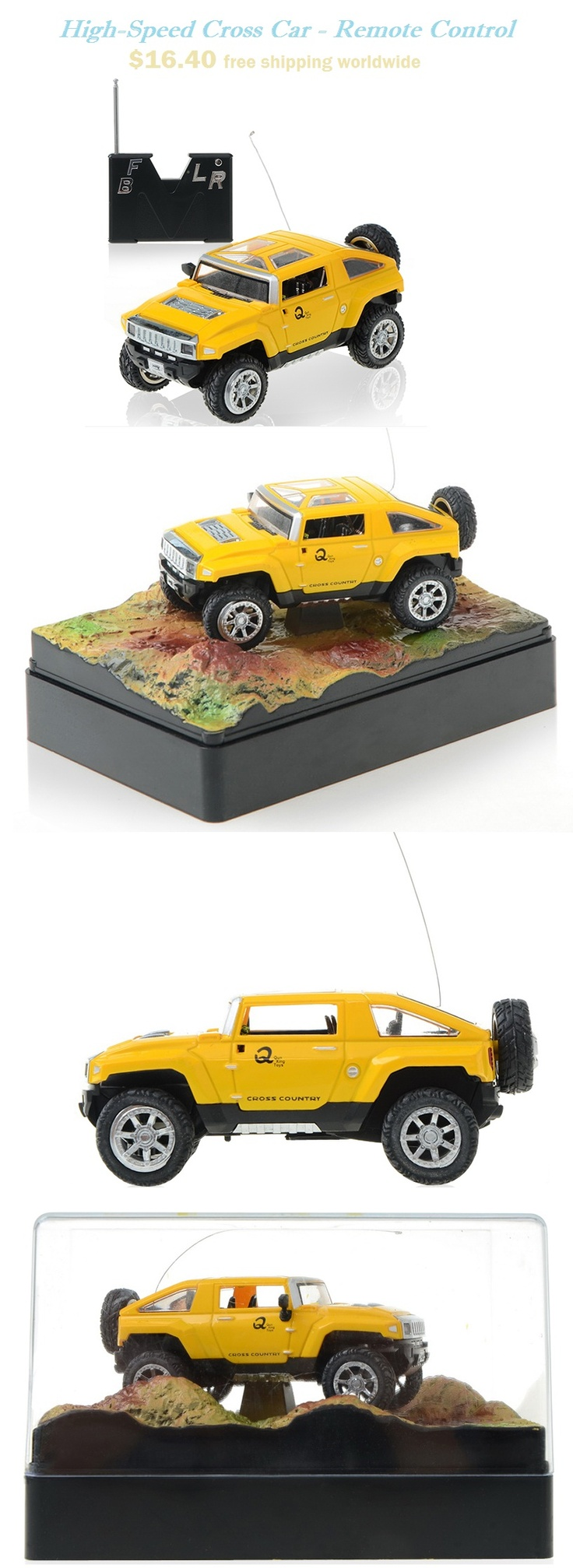 Off Road High-Speed Cross Car - Remote Control - Yellow #offroad #speed #car #remote #control $16.40