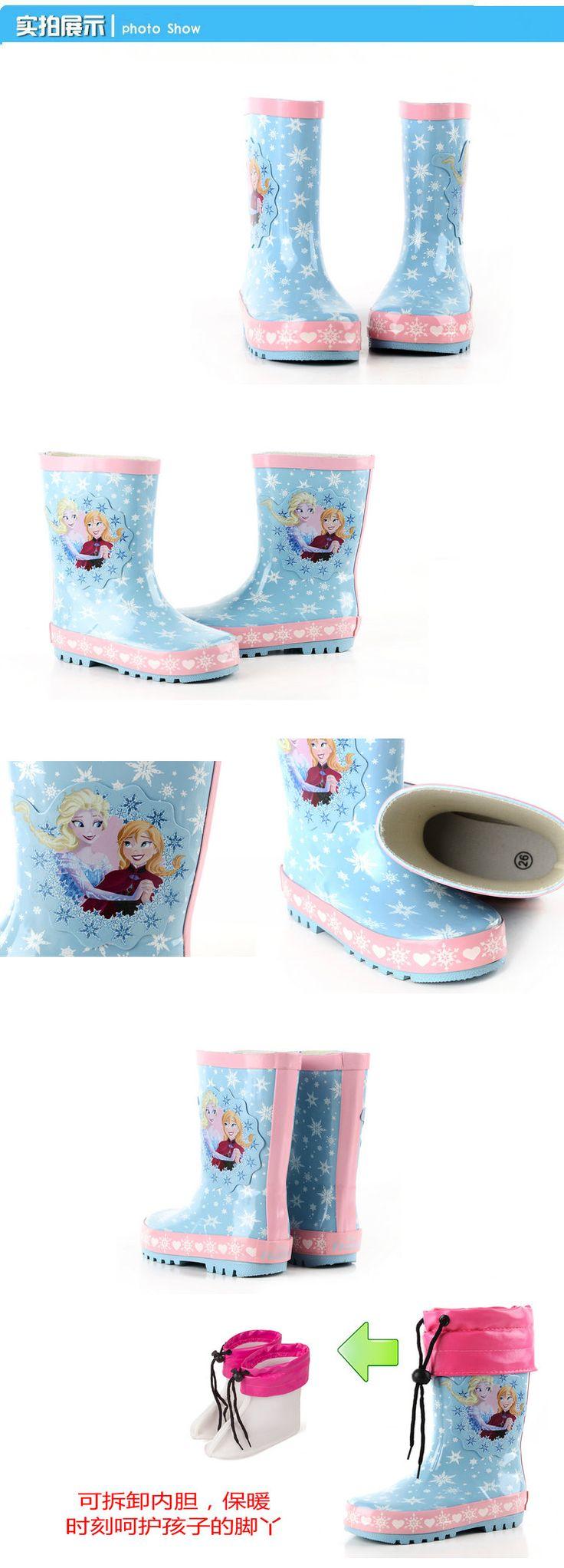Мода мультфильм ребенка дождь сапоги девочек анти-скольжения воды обувь ребенка малыша ботинки дождя бахилы толще Бесплатная доставка-Таобао глобальной вокзала
