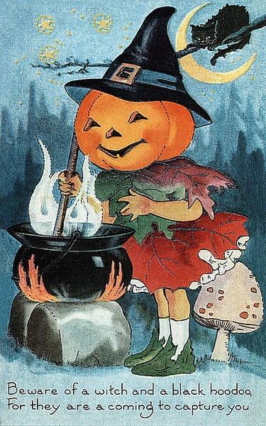 Postcardquenalbertini Vintage Halloween Card