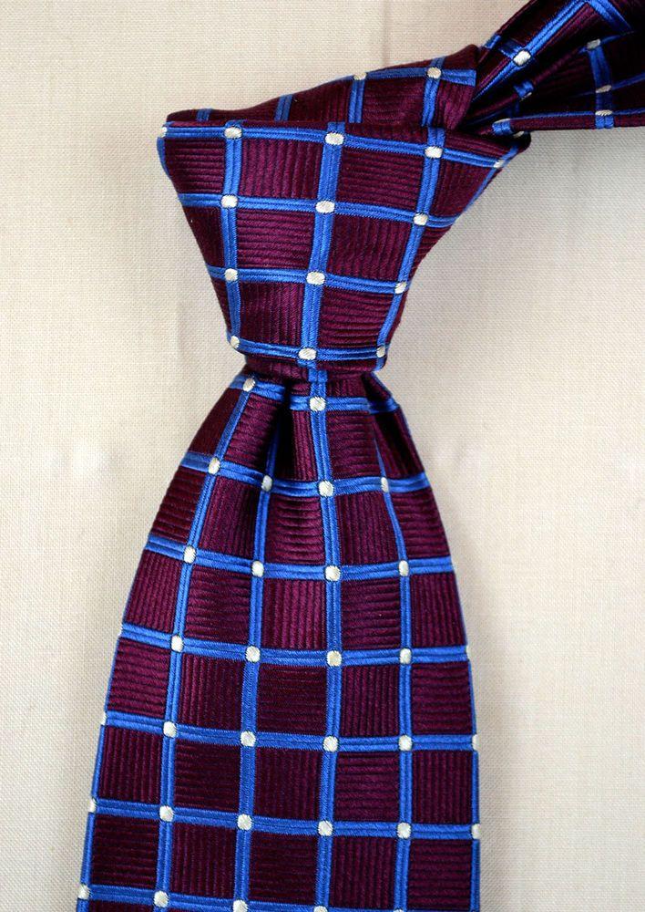 """LANDS' END Silk Tie Long black blue 62"""" made in USA #LandsEnd #NeckTie #madeinusa #formal #business"""
