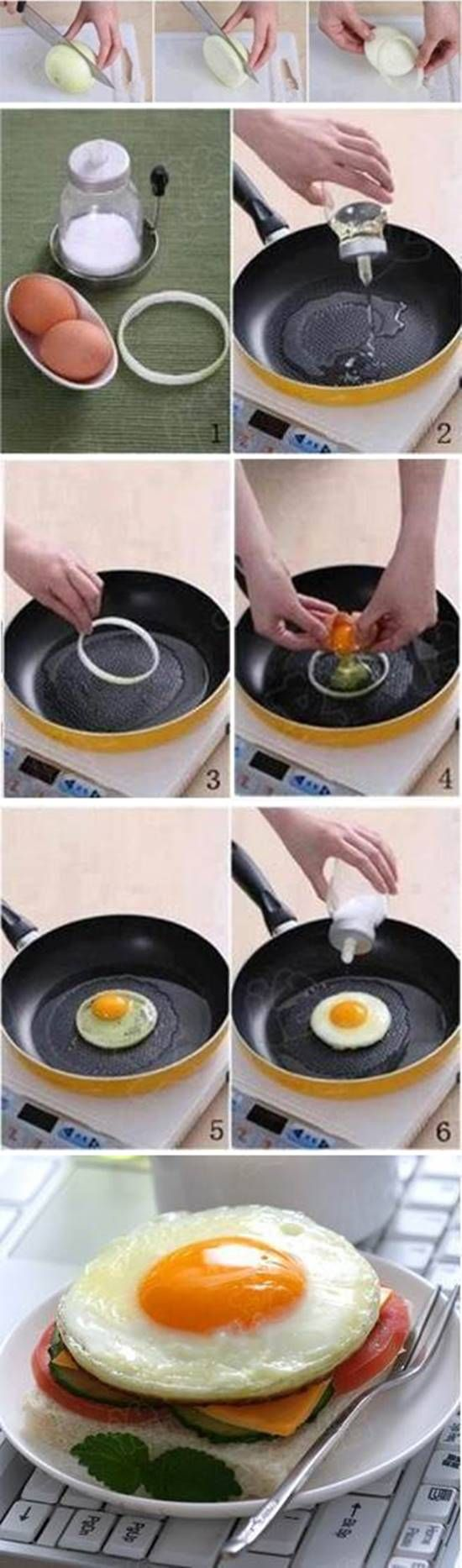 How to Make Perfect Round Shaped Fried Egg #cooking #tips