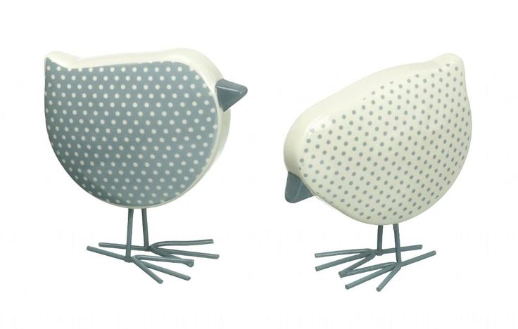 This pretty little pair includes one blue and one white polka dot ceramic chicken each measuring 90 X 90mm in height, £10.00 a pair from www.pastellane.co.uk. #chickens #ceramicchickens #polkadot