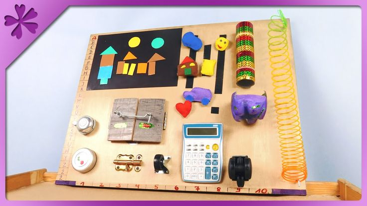 DIY Baby activity board, sensory board for toddler (ENG Subtitles) - Speed up #257 - YouTube