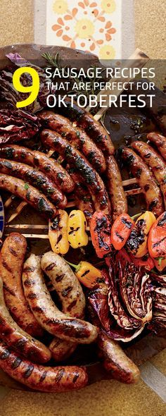 Oktoberfest is here! Grab a beer and cook up a platter of delicious sausages.