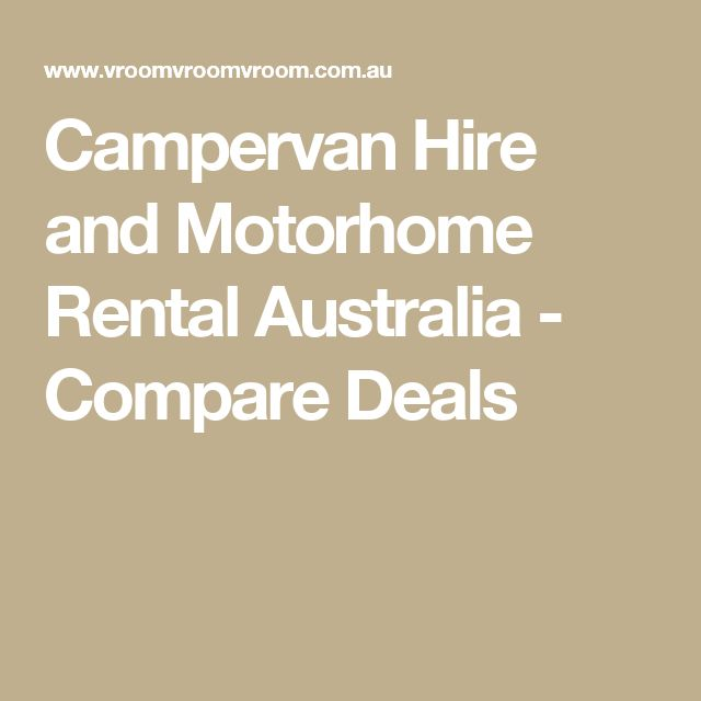 Campervan Hire and Motorhome Rental Australia - Compare Deals