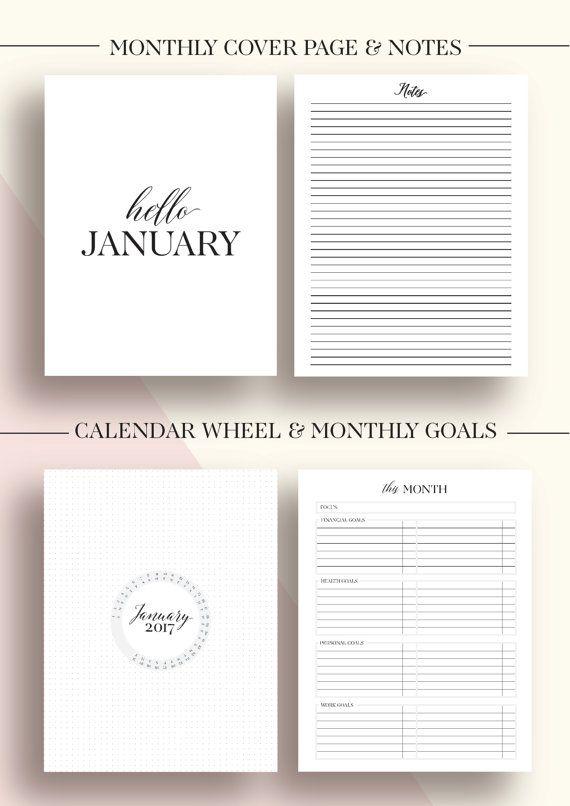 2017 Planner Printable 2017 Monthly Planner 2017 от EllagantInk