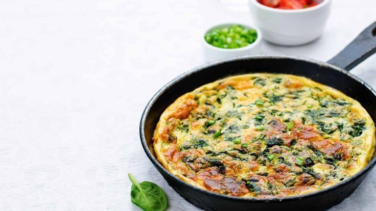 Frittata con gli spinaci, frittata ricetta, come fare la frittata di spinaci
