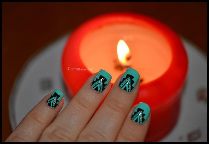 Aztèque #nailart #nails #nailpolish #vernis #nail #manucure #aztèque #tribal