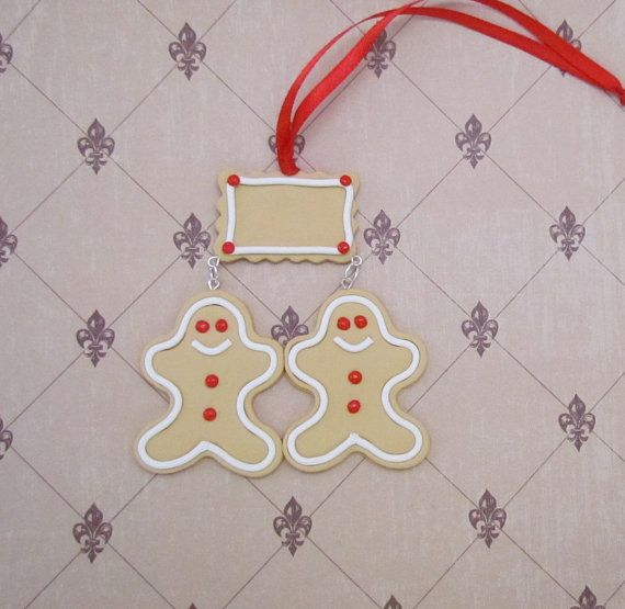 Gingerbread ornaments gingerbread ornament by BearyCuteStudio