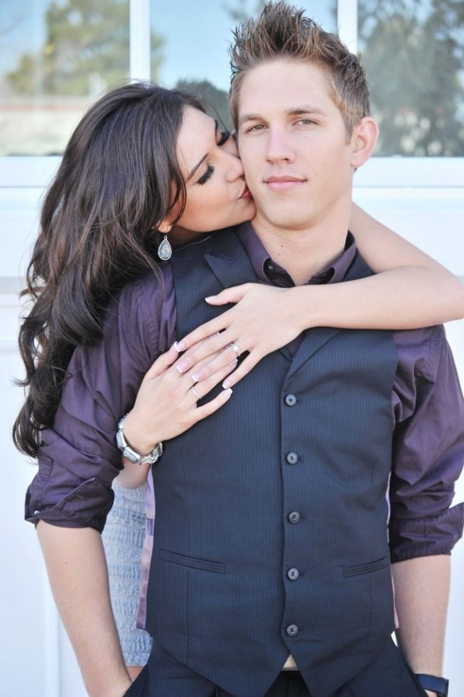 cute couple pictures-love the color of his shirt!