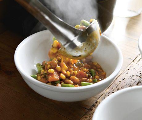 Porotos Granados (Chilean Squash & Bean Stew)         Porotos Granados Recipe  at Epicurious.com