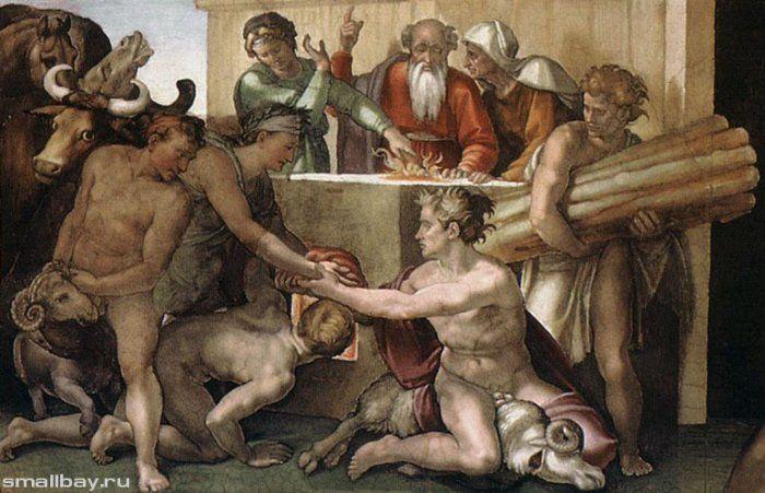 Работы Микеланджело. Грехопадение