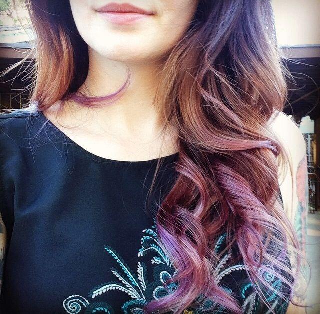 Long brunette hair with pastel highlights.   Brunettes ...
