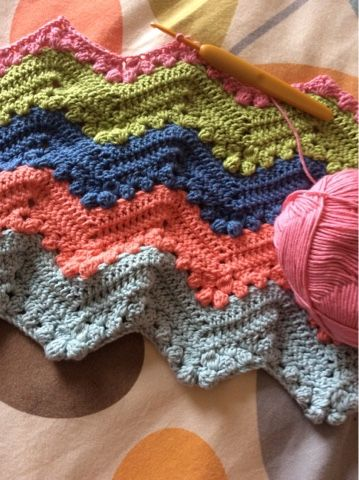 Funky Pattern For Zig Zag Crochet Afghan Crest - Easy Scarf Knitting ...