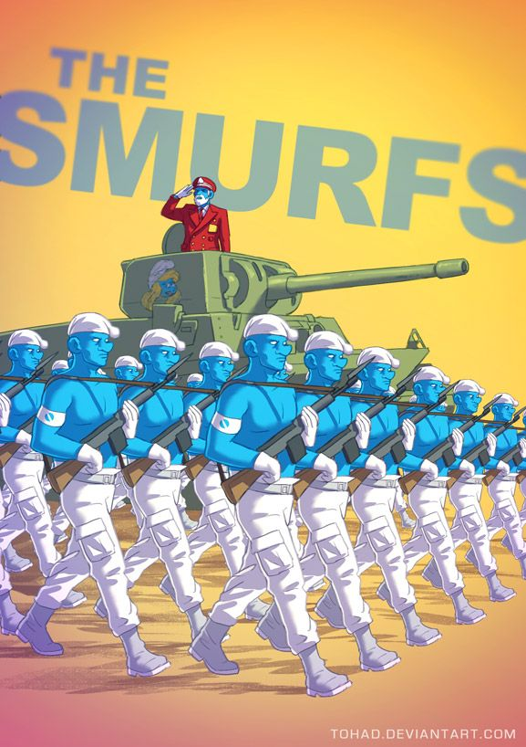 L'armée des Schtroumpfs. #schtroumfs #art #badsass