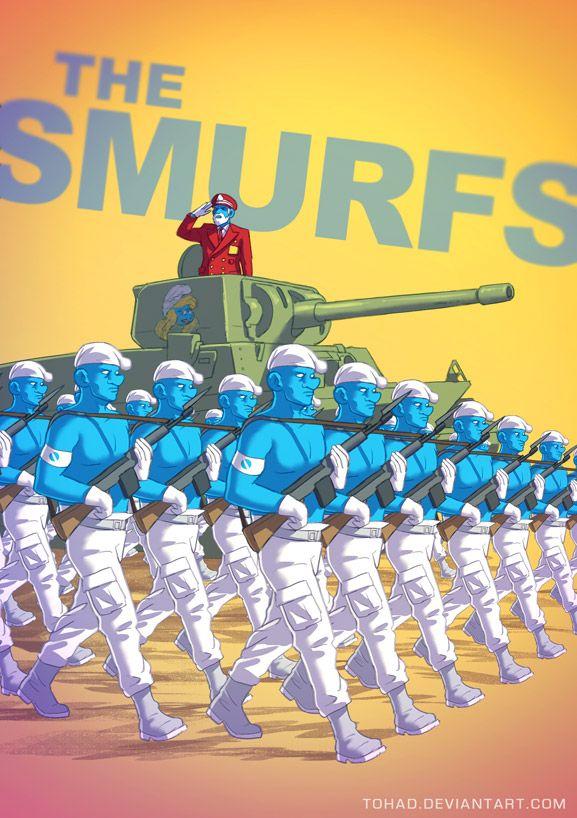 The Smurfs BADASS by Tohad.deviantart.com on @deviantART
