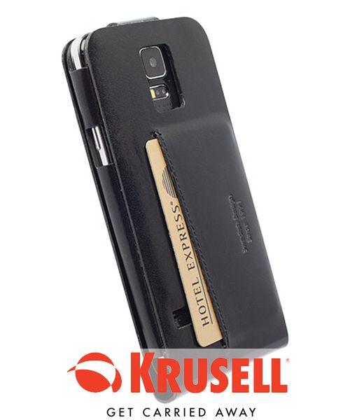 Krusell Kalmar Walletcase Samsung Galaxy S5 Mini Zwart