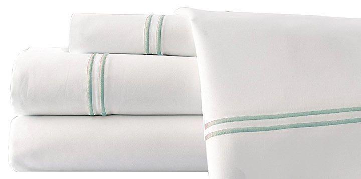Italian Hotel Solid Cotton Queen Sheet Set Ultra-Soft 1000 Thread White Jade  #ItalianHotel