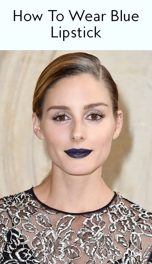 Wearing Blue Lipstick is Easier than You Think—Here's How from InStyle.com