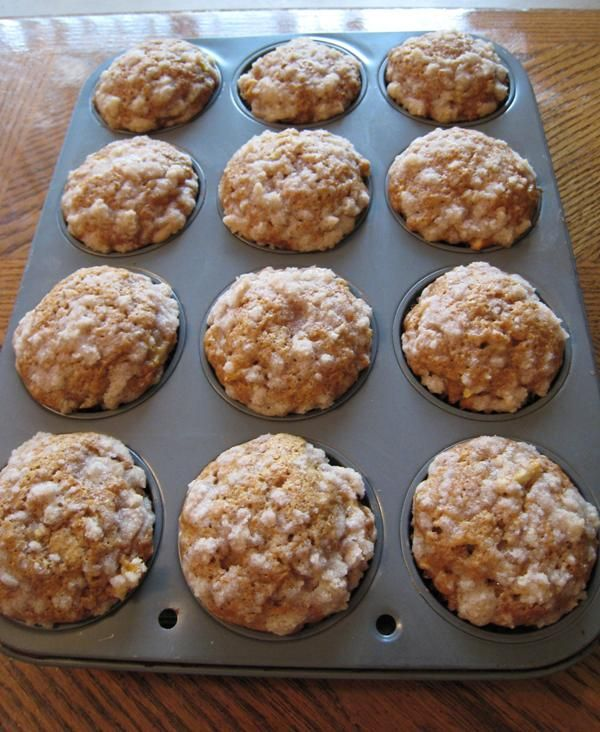 Pumpkin Apple Streusel Muffins Recipe — Dishmaps