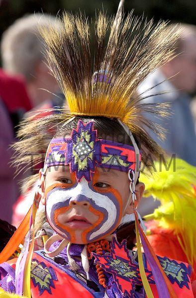 Cree (First Nations) boy in regalia, Regina, Saskatchewan - Photo by Tim Graham