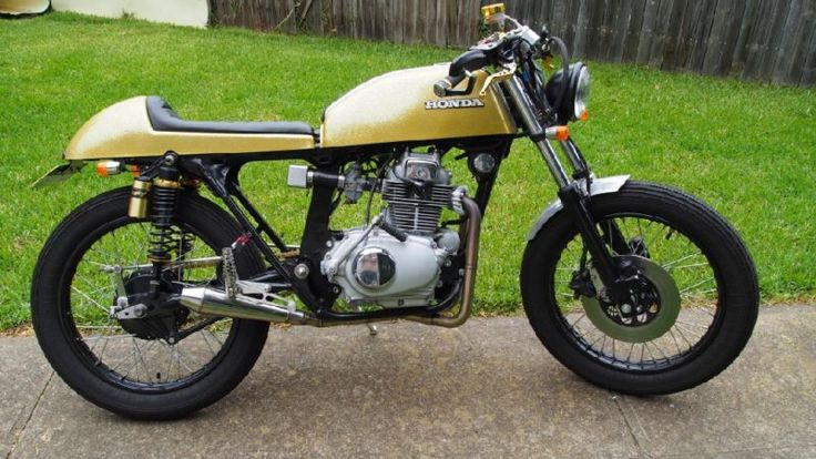 My cafe racer cb200 Honda as purchased from DnA customs Australia.  the bumblebee!