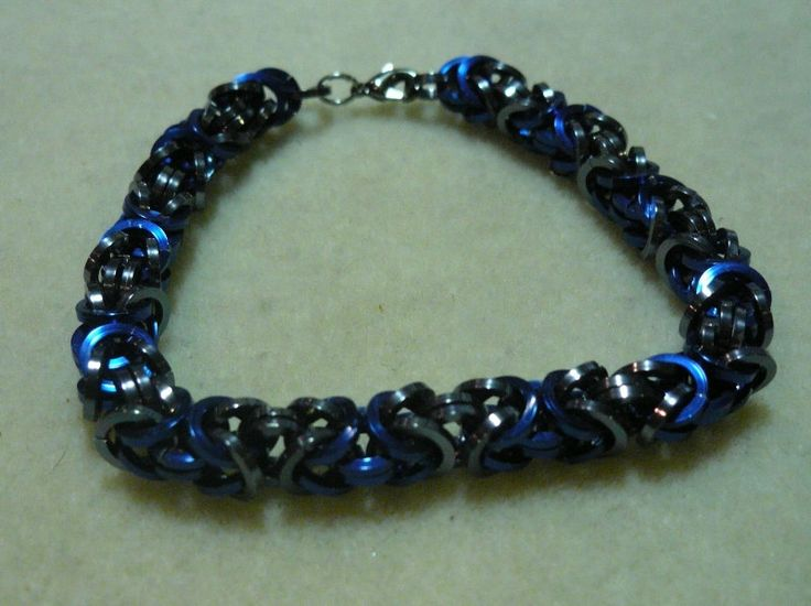 Bracelet Byzantine Blue and Ice by CTDesigns2 on Etsy