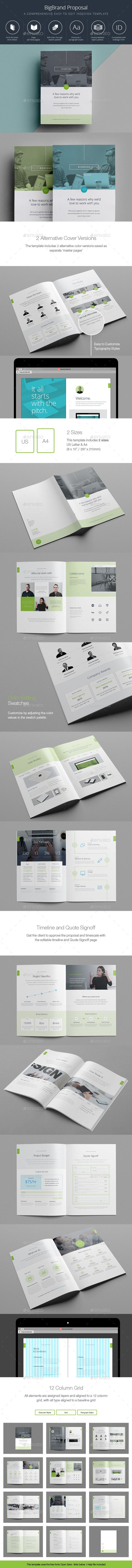 BigBrand Proposal Template #design Download: http://graphicriver.net/item/bigbrand-proposal/12041988?ref=ksioks