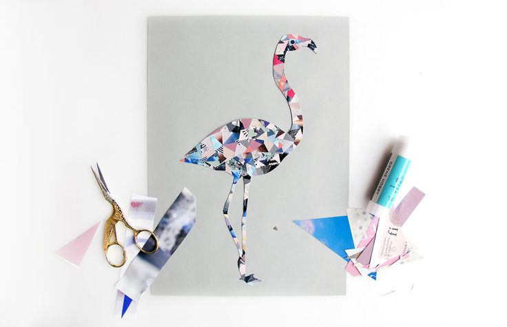 Paper Collage Art w/ templates