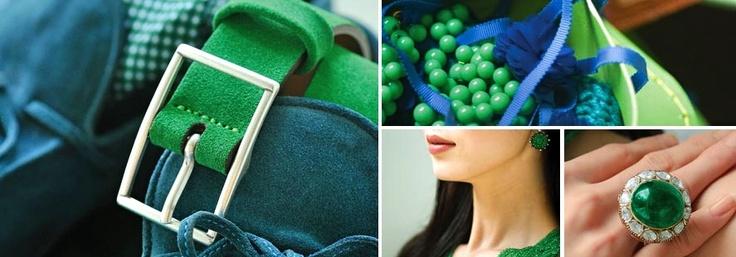 Hace unos días,  Pantone  la máxima autoridad en el mundo del color, nos ha adelantaba a  través de su página web  que el color del 2013 será  el verde esmeralda,  referencia PANTONE 17-5641    El color verde esmeralda es un tono medio, fuerte y semitransparente, brillante e inspirado en el berilo denominado esmeralda, que es una gema de  berilio, silicato de alúmina y óxido de cromo.....