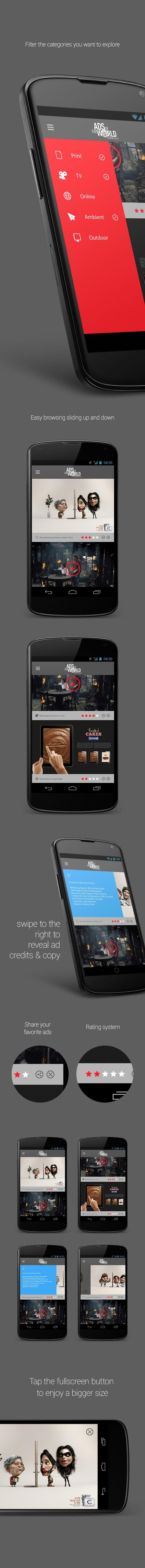 Ads of the world app by Sherif Adel, via Behance