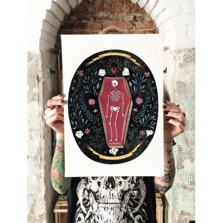 Gli amanti mettono radici sopra alle ossa - Poster 30 x 45 cm