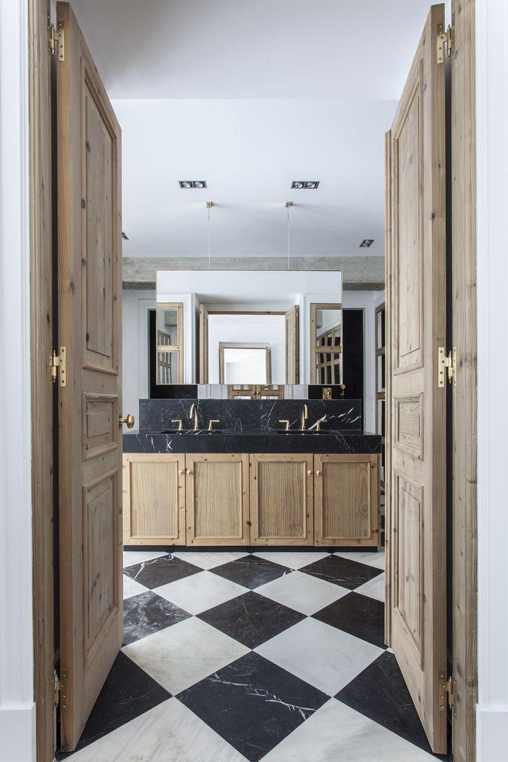 cuartos de bao tocador suelos puertas puertas francesas madera natural lavadero piso magia prctica