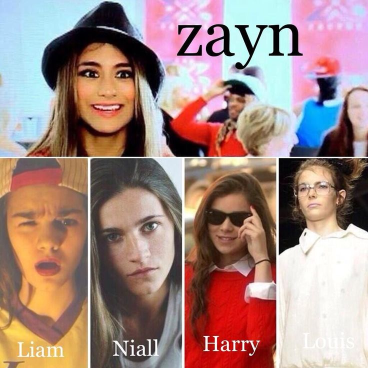These are the real-life girl versions of one direction<< Oh My their faces look exactly like them!!
