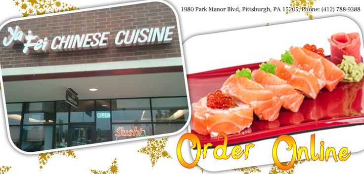Ya Fei - Pittsburgh - PA - 15205 - Menu - Chinese, Seafood, Sushi, Vegetarian - Online Food Delivery Catering in Pittsburgh