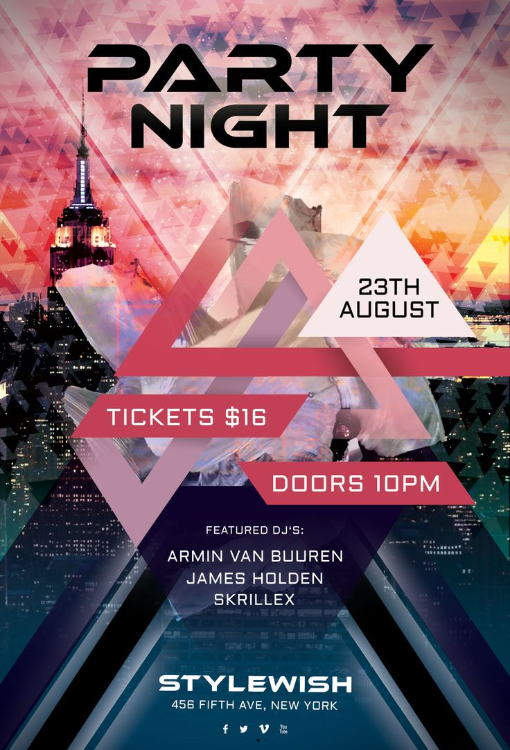 Buy Party Night Flyer By StyleWish On GraphicRiver. Party Night Flyer The  PSD File Is Very Well Organized In Folders And Layers.