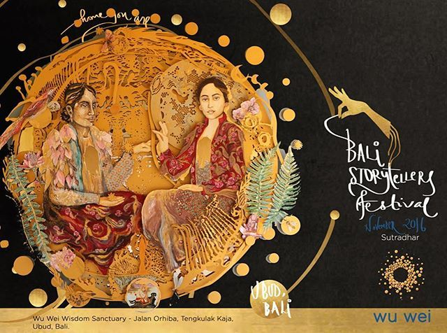 Return to the excitement and magic of Storytelling! 🌕 Weaving the threads of cultures together in the sacred lands of Bali, the Island of the Gods. 🌕 November 25-27, 2016 Purchased your EARLY BIRD Tickets today✨  We're so excited to be bringing this through ~ ✨💛✨ #BaliStorytellersFestival #Bali #Storytellers #Ubud #Storyteller #Storytelling #StorytellingFestival #GoldenThread #Sutradhar #WisdomKeepers  #BestofBali #TheYak #TheBudMag #Ubudhood #UbudNowandThen #Wisdom #TheWuWay #HomeYouAre…