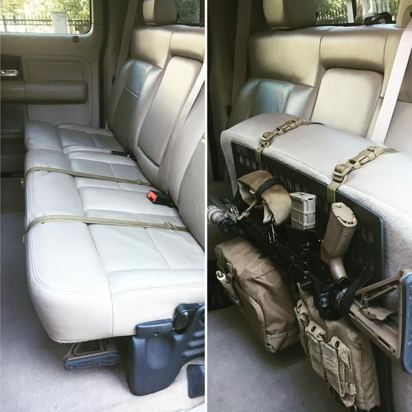 Grey Man Tactical Rigid MOLLE Panel RIP-M Vehicle Seat Back AR-15 Mount Vehicle Every Day Carry Law Enforcement Vehicle SWAT Vehicle  www.greyman-tactical.com