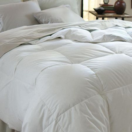 Refresh your master suite or guest room with this crisp white comforter, showcasing a baffle box design and down-alternative fill.      ...