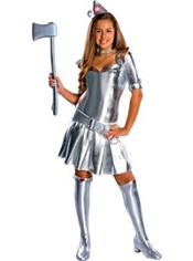 Sassy Wizard of Oz Tin Man Costume Teen Girls