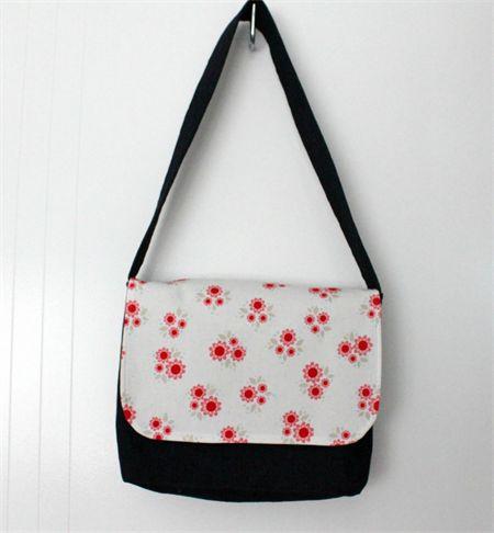 Girls Floral Messenger Bag
