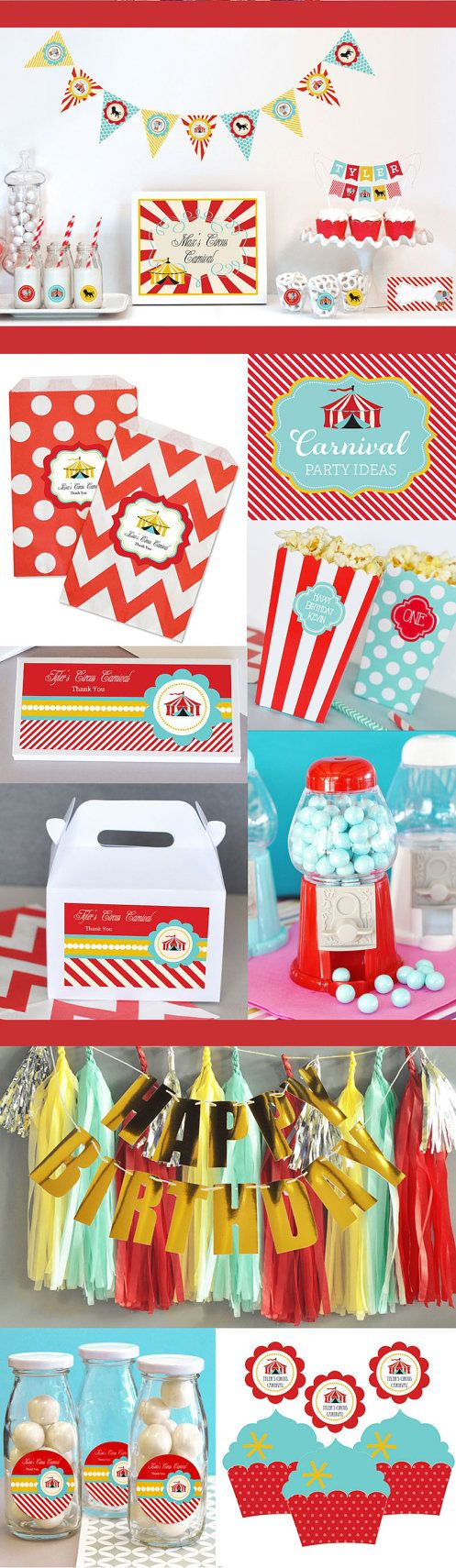 Boys First Birthday Party Carnival Party Decorations by ModParty