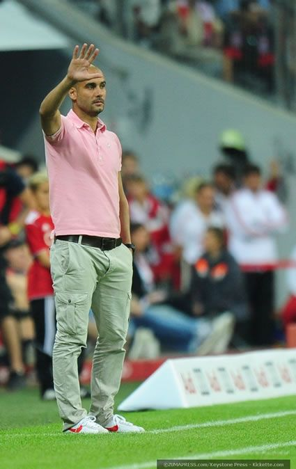 Pep in the pink. Pep Guardiola