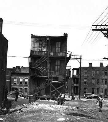 ... very poor in southside chicago during the 1950s