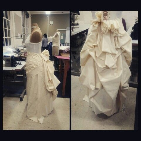 Progress draping my first bustle