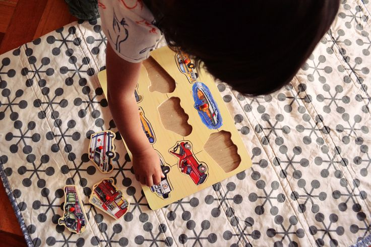 Introducing peg puzzle are great for refining toddlers fine motor skills. However, every kid develops differently so don't fret if you don't see the Montessori magic happen straight away...just be patient, persevere and repeat. See more Montessori tips here. #montessoriactivities #pegpuzzles #fatfridays #activitiesfortoddlers